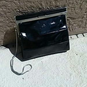 TALBOTS Black Dressy Patent Leather Handbag